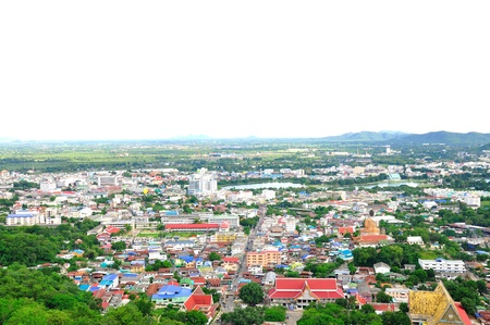bird s eye: Nakornsawan of Thailand with bird s eye view Stock Photo