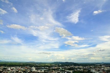 bird 's eye view: Nakornsawan of Thailand with bird s eye view Stock Photo