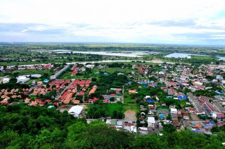 bird s eye view: Nakornsawan of Thailand with bird s eye view Stock Photo