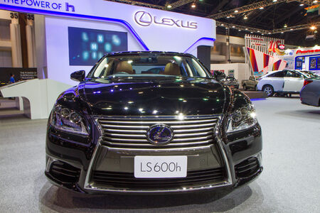 NONTHABURI - December 9   Lexus LS600h at The 30th Thailand International Motor Expo on December 9, 2013 in Nonthaburi, Thailand
