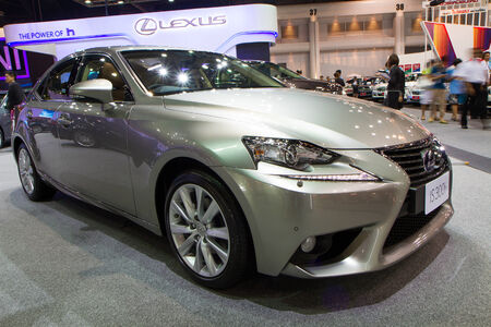 NONTHABURI - December 9   Lexus gs300h at The 30th Thailand International Motor Expo on December 9, 2013 in Nonthaburi, Thailand Editorial