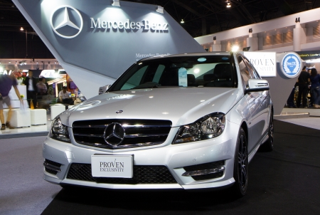 NONTHABURI - December 9  Mercedes Benz C-Class CDI C250 at The 30th Thailand International Motor Expo on December 9, 2013 in Nonthaburi, Thailand
