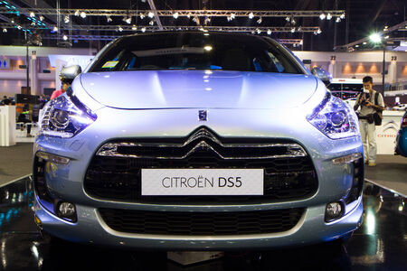 Bangkok - Decenber 9   Citroen DS5 at The 30th Thailand International Motor Expo on December 9, 2013 in Bangkok, Thailand  Editorial