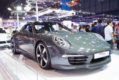 Bangkok - Decenber 9   Porsche 911 at The 30th Thailand International Motor Expo on December 9, 2013 in Bangkok, Thailand