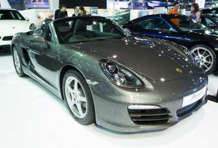 Bangkok - Decenber 9   Porsche Boxster at The 30th Thailand International Motor Expo on December 9, 2013 in Bangkok, Thailand