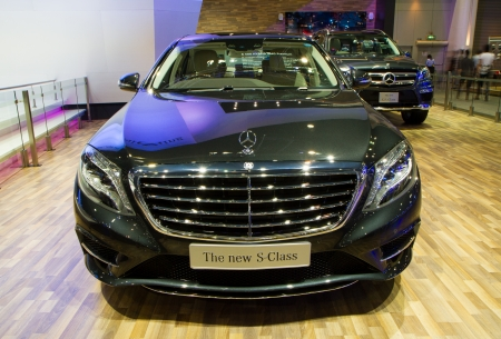 NONTHABURI - December 9  Mercedes Benz S-Class at The 30th Thailand International Motor Expo on December 9, 2013 in Nonthaburi, Thailand