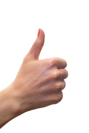 isolated thumbs up sign Stock Photo - 5616070