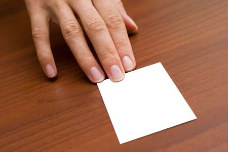 Women giving business card Stock Photo - 5637437