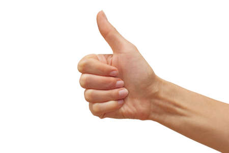 woman's hand showing thumb up Stock Photo - 5859277