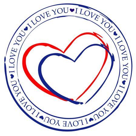 Heart shape print Standard-Bild