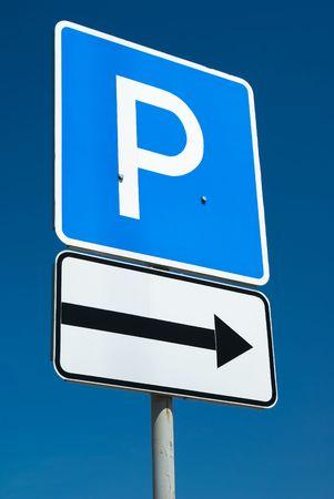 Parking sign Standard-Bild