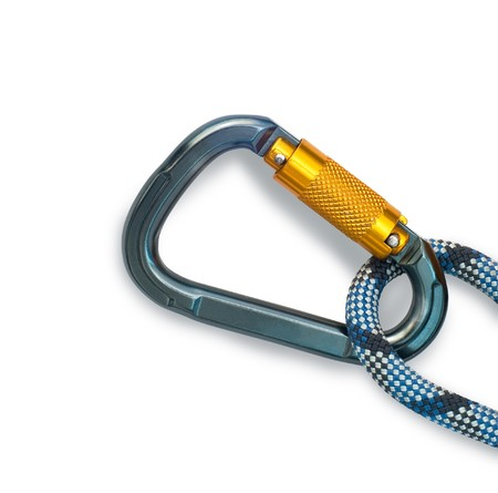 rapell: Isolated new climbing equipment - carabiner and rope