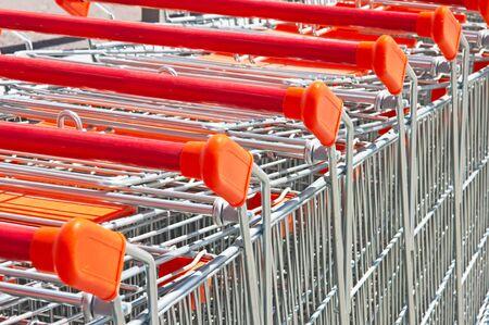 shopping cart Standard-Bild