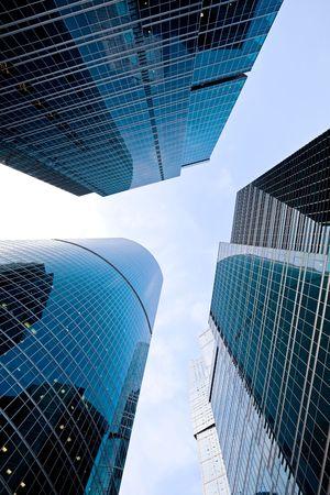 Contemporary skyscrapers in business centre Stock Photo