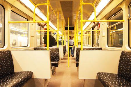 interior of the subway train in Berlin