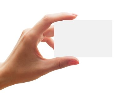 empty business card in a hand Stock Photo - 7800068
