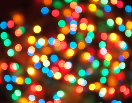 abstract holiday background, defocused lights photo