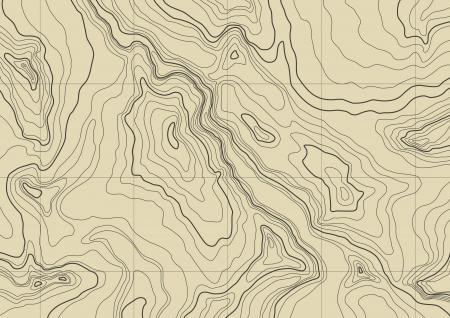 topografia: Mapa topogr�fico abstracto en colores marr�n