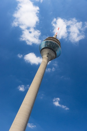 Rheinturm tower Dusseldorf. Germany