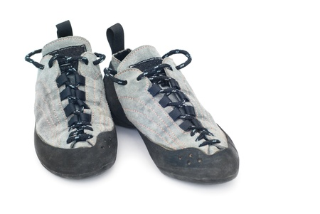 climbing shoes isolated on white Standard-Bild