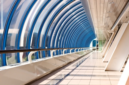 Perspective of the corridor in the modern business centre