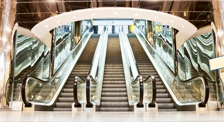 escalator in contemporary interior
