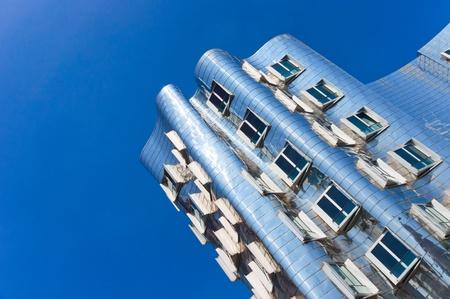 Metal facade of modern building in Dusseldorf (Germany)