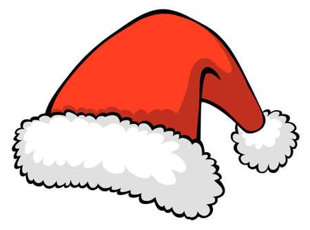 santa hat: illustration of red Santa
