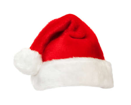 Isolated red Santa's hat Standard-Bild