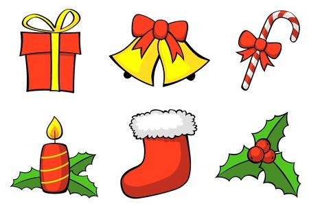 Set of Christmas symbols. Vector Illustration