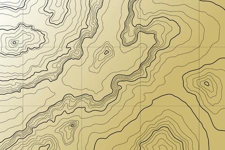 topografia: Mapa topográfico de abstracta en tonos marrones