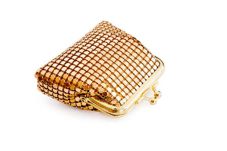 Isolated gold changing purse