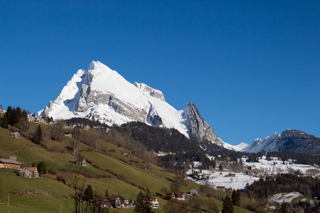 Snow covered mountain Altmann
