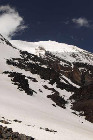 meters: mount ararat seen from 4100 meters. Stock Photo