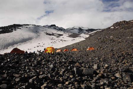base camp mount ararat 3800 meters Stock Photo - 5842405