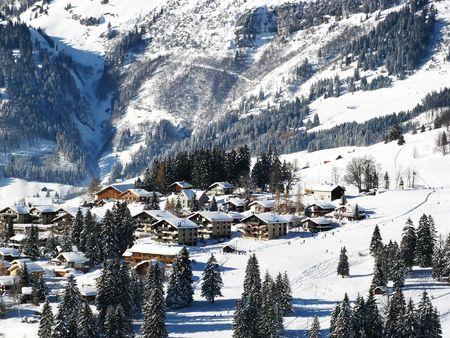 Skiing area near Amden (St. Gallen, Switzerland) photo
