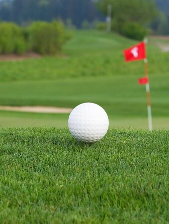 Golf ball near the hole Stock Photo - 4993113