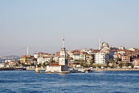 Lighthouse tower in the Bosphorus (Istanbul) Stock Photo - 5010084