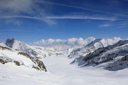 Panoramic view (Jungfrau region, Seitzerland) photo