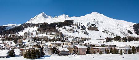 Panorame view of Davos (Switzerland) photo