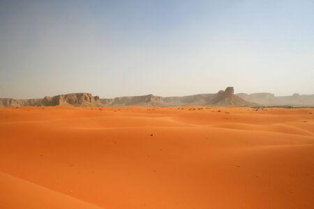 inhospitable: Sand storm in Red desert (Saudi Arabia)