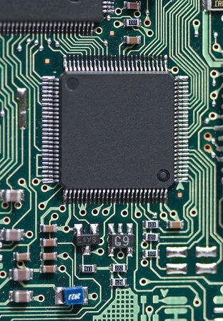 Fragment of the electronic circuit Stock Photo - 5067011