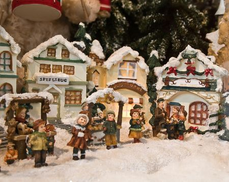 Christmas decorations (Small toy houses) photo