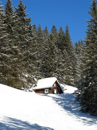 glarus: Small cottage in alps (Elm, Glarus, Switzerland)