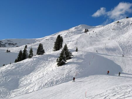Skiing in Swiss Alps (Flumserberg, St. Gallen) Stock Photo - 5110248