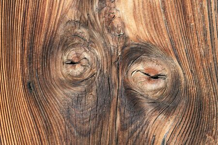 knothole: Tarry wooden texture Stock Photo