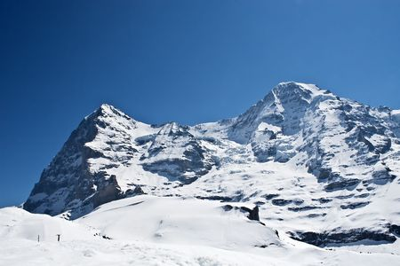 Eiger and Moench(Monk) - 2 peak Stock Photo - 5154426