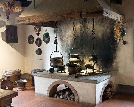 cucina antica: Antica cucina (Kyburg castello, Svizzera)