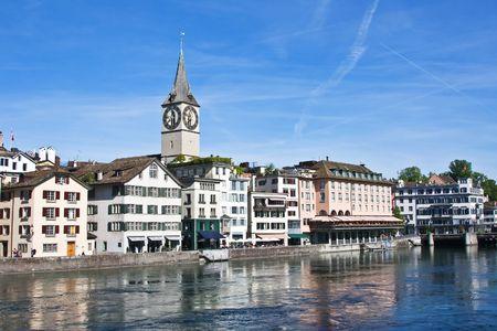 View of the Zurich donwtown (Switzerland, May 2009)