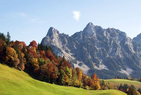 Indian summer in swiss alps photo